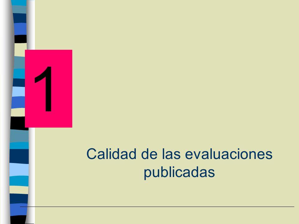 EVALUACIONES PUBLICADAS (I) 1.- Cada día se publican más evaluaciones económicas de medicamentos Jeffersson et al.