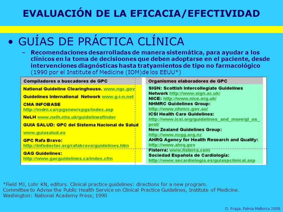Taller de fuentes de información para la selección de medicamentos GUÍAS DE PRÁCTICA CLÍNICA –Recomendaciones desarrolladas de manera sistemática, par