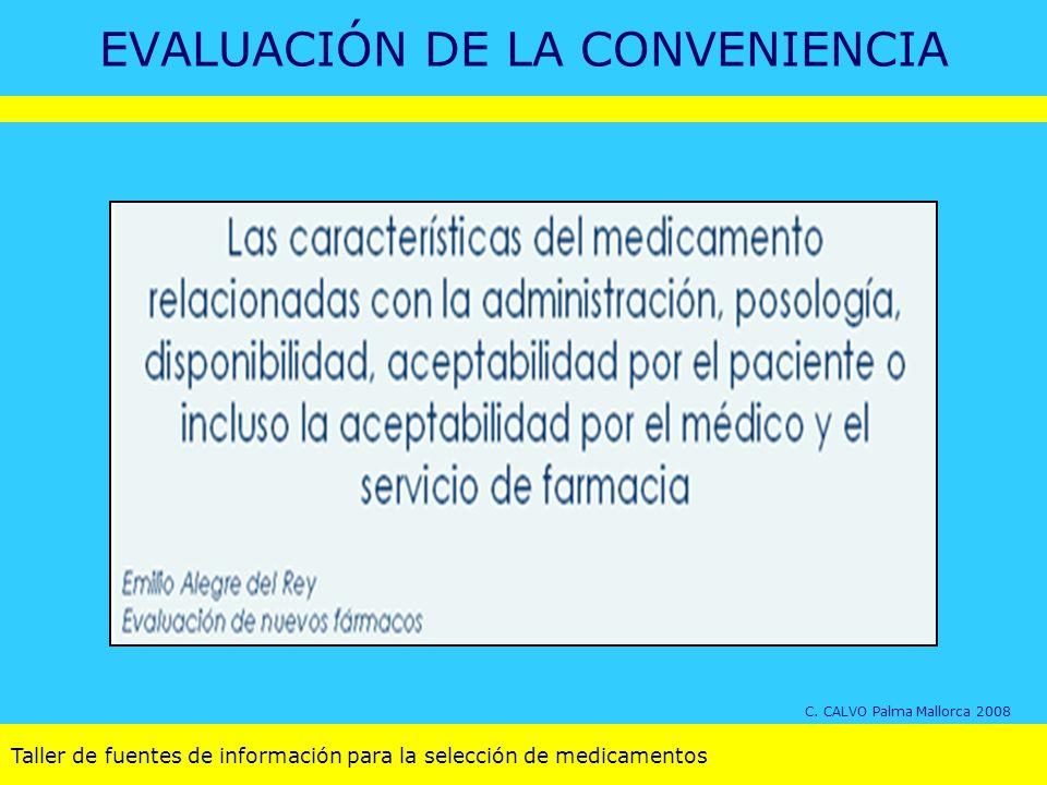 EVALUACIÓN DE LA CONVENIENCIA C. CALVO Palma Mallorca 2008