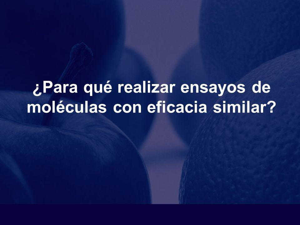 Ensayos de no inferioridad y ensayos secuenciales ¿Para qué realizar ensayos de moléculas con eficacia similar.