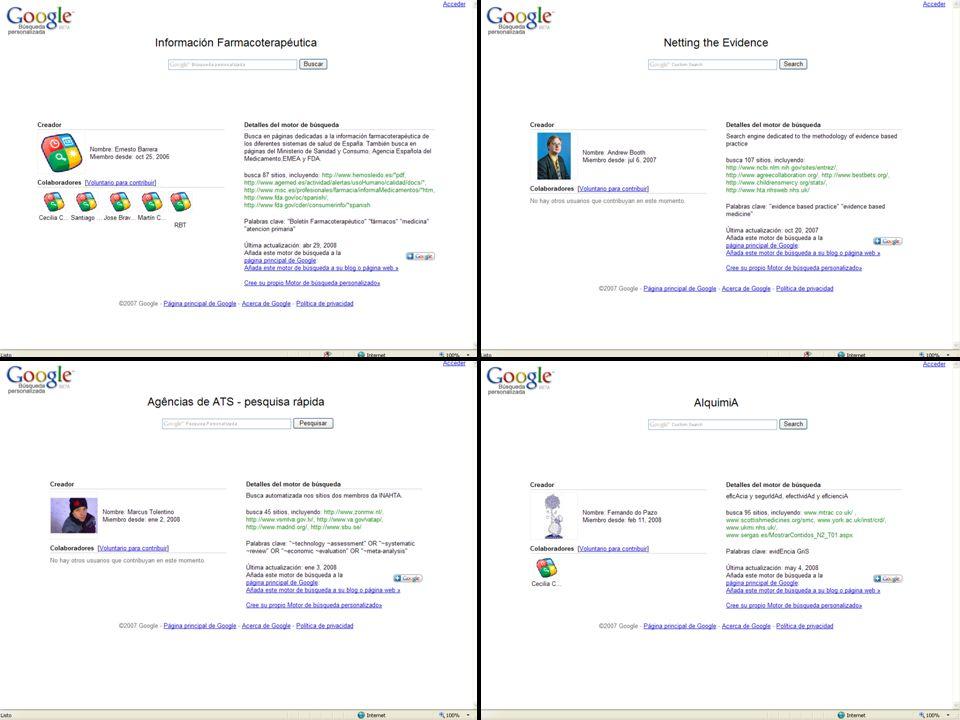 Taller de fuentes de información para la selección de medicamentos MOTOR DE BÚSQUEDA II. Algunos ejemplos…