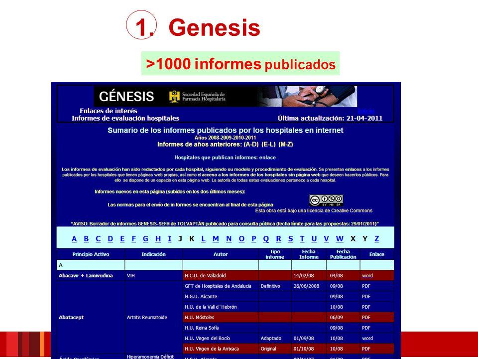 >1000 informes publicados 1. Genesis