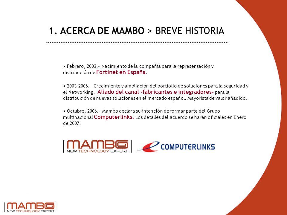 Febrero, 2003.- Nacimiento de la compañía para la representación y distribución de Fortinet en España. 2003-2006.- Crecimiento y ampliación del portfo