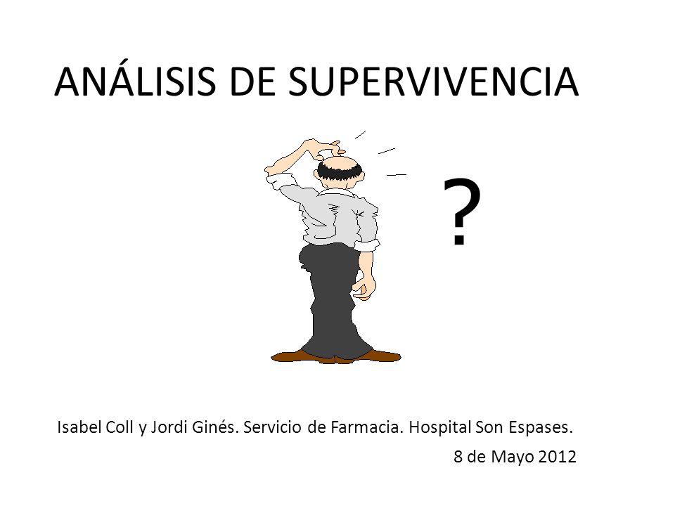 ANÁLISIS DE SUPERVIVENCIA ? Isabel Coll y Jordi Ginés. Servicio de Farmacia. Hospital Son Espases. 8 de Mayo 2012