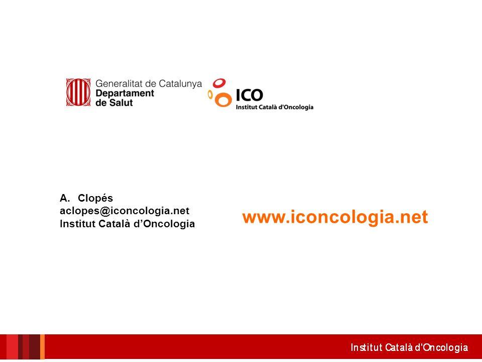 www.iconcologia.net A.Clopés aclopes@iconcologia.net Institut Català dOncologia