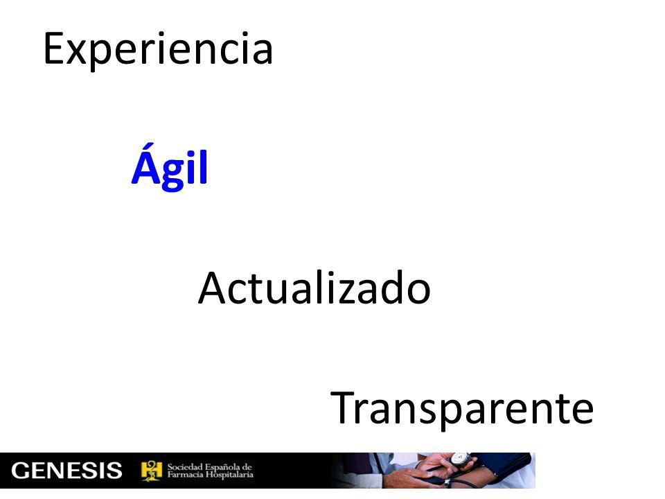 Experiencia Ágil Actualizado Transparente