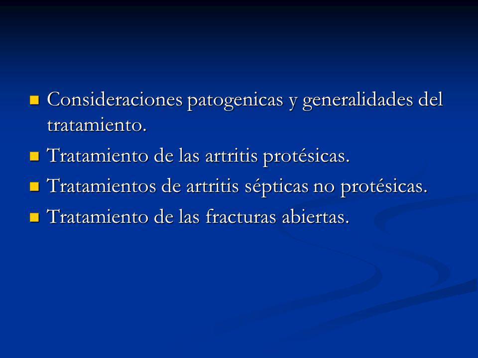 Artritis séptica Patogenia La rapidez y el grado de destrucción articular dependerán del microorganismo implicado, del huesped afectado y de la precocidad en la instauración de un tratamiento.