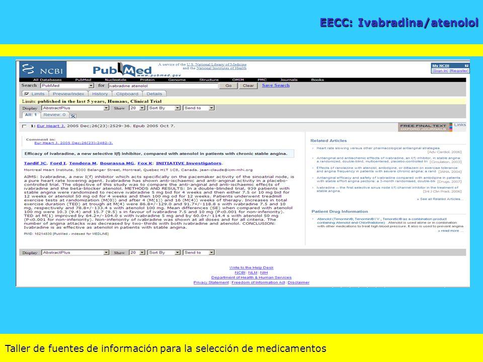 EECC: Ivabradina/atenolol