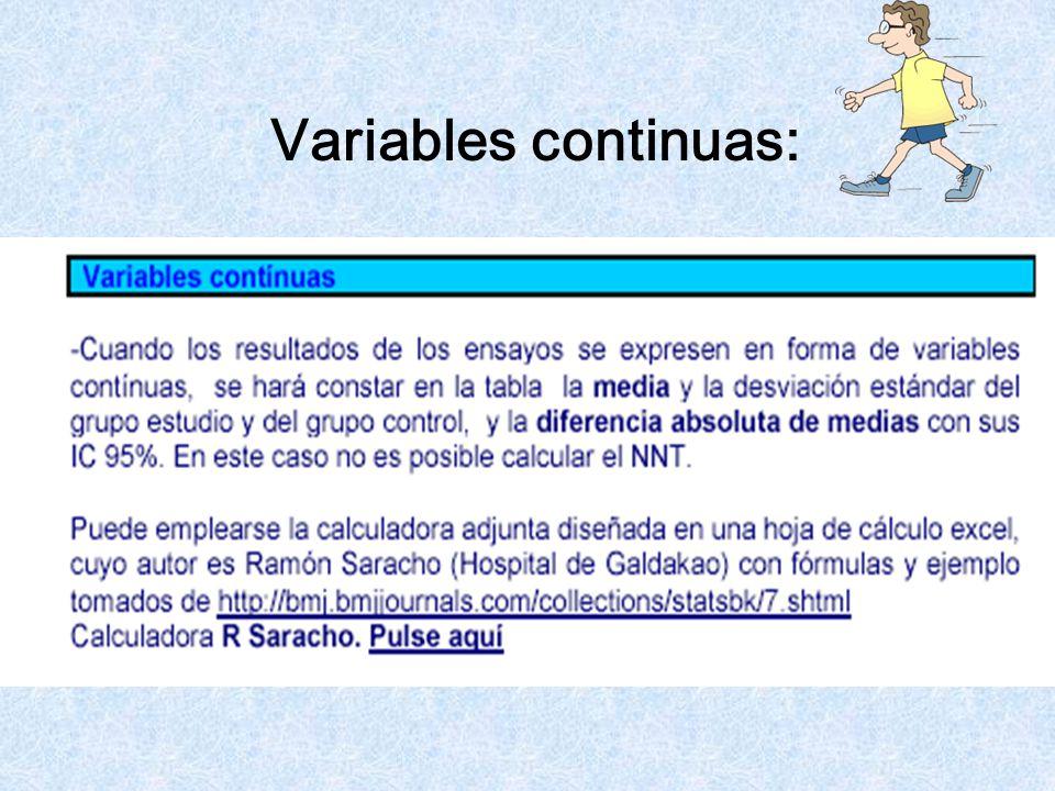 Variables continuas: