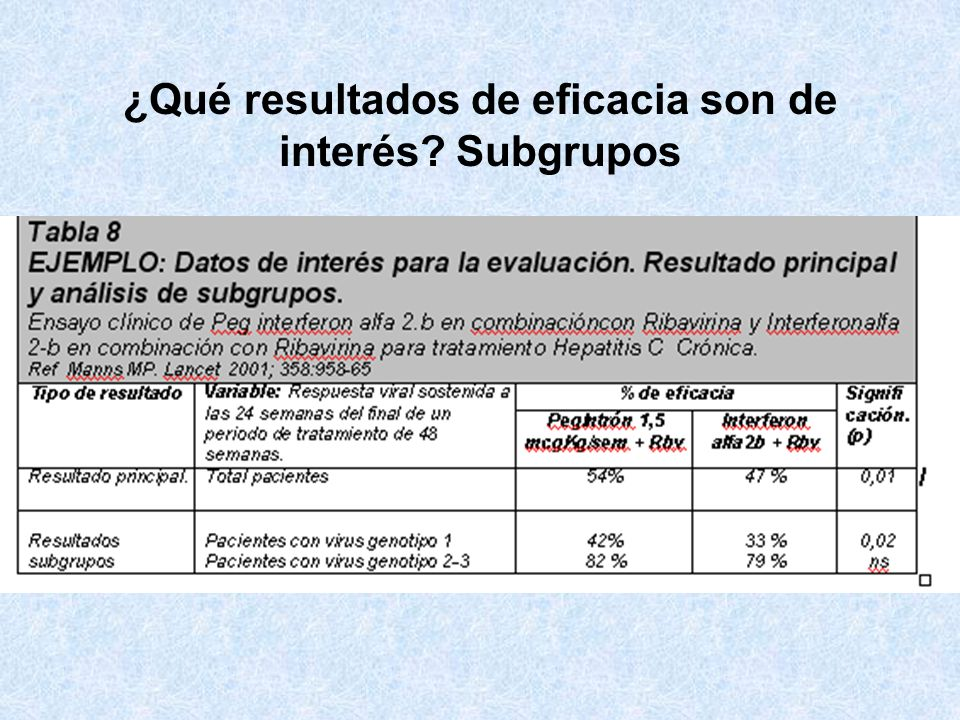 Interpretación del Hazard Ratio Tratamiento A vs tratamiento estandar B (mortalidad) HR = 0,65 1 - 0,65 = 0,35 -> 35 % –El tratamiento experimental A disminuye el riesgo relativo de muerte en un 35% con respecto al tratamiento estandar en cualquier momento del periodo de seguimiento.