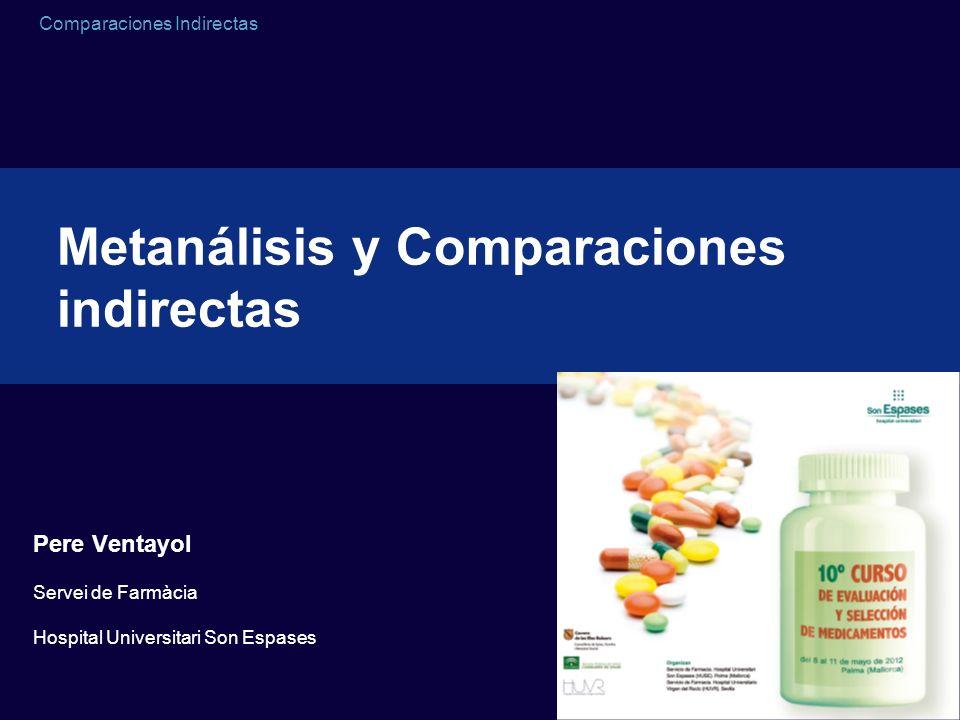 Comparaciones Indirectas Comparaciones indirectas RR= 11.6 (5.5 a 24.3) RR= 30.7 (7.2 a 120.6) RR= 10.1 (7.0 a 14.4) RR= 21.6 (10.9 a 43.0) Etanercept frente a placebo Infliximab frente a placebo Adalimumab frente a placebo Ustekinumab frente a placebo RR= 2.64 (0.54 a 13.07)Infliximab frente a etanercept RR= 3.04 (0.71 a 13.01)Infliximab frente a adalimumab RR= 1.15 (0.50 a 2.61)Etanercept frente a adalimumab RR= 0.54 (0.19 a 1.47)Etanercept frente a ustekimumab RR= 0.47 (0.21 a 1.05)Adalimumab frente a ustekimumab RR= 1.41 (0.29 a 6.81)Infliximab frente a ustekimumab