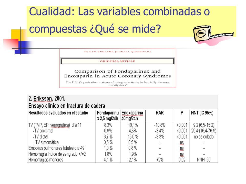 Cualidad: Las variables combinadas o compuestas ¿Qué se mide?