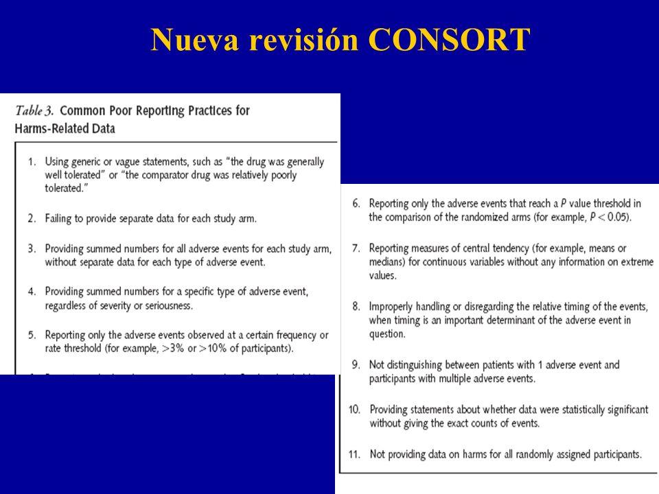 Nueva revisión CONSORT n Nueva versiíon del CONSORT