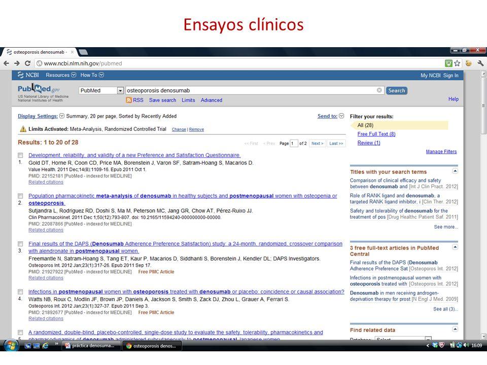 Registros de ensayos clínicos
