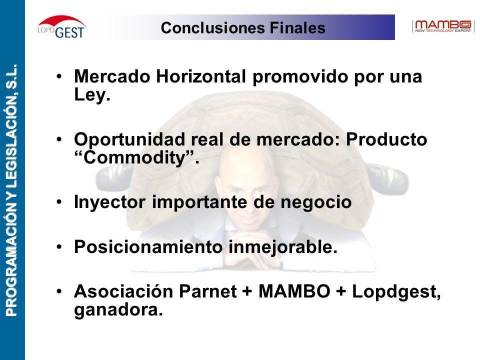 PROGRAMACIÓN Y LEGISLACIÓN, S.L. Mercado Horizontal promovido por una Ley.