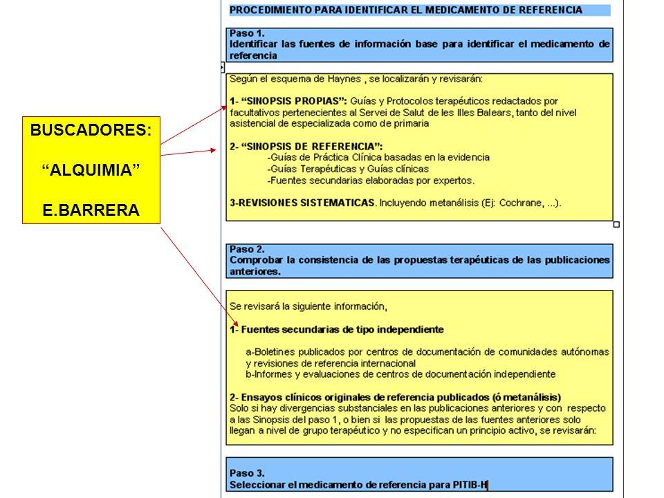 BUSCADORES: ALQUIMIA E.BARRERA