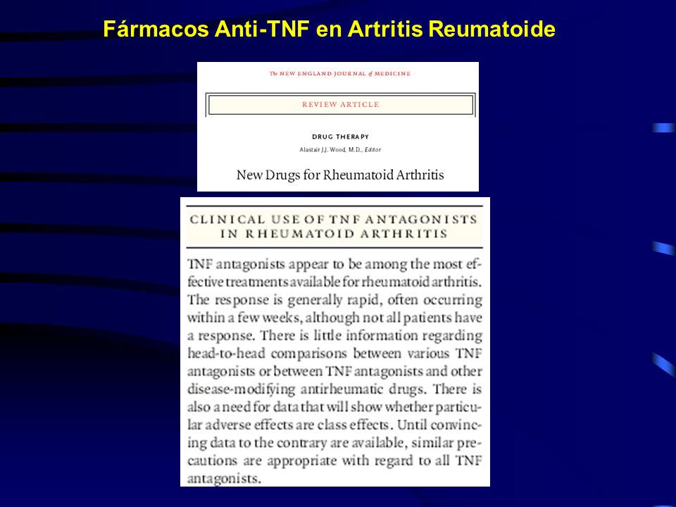 Fármacos Anti-TNF en Artritis Reumatoide