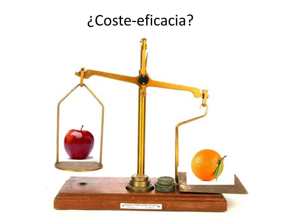 ¿Coste-eficacia?