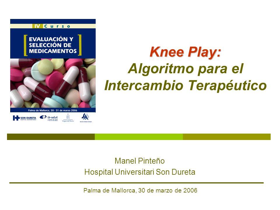 Knee Play: Knee Play: Algoritmo para el Intercambio Terapéutico Manel Pinteño Hospital Universitari Son Dureta Palma de Mallorca, 30 de marzo de 2006