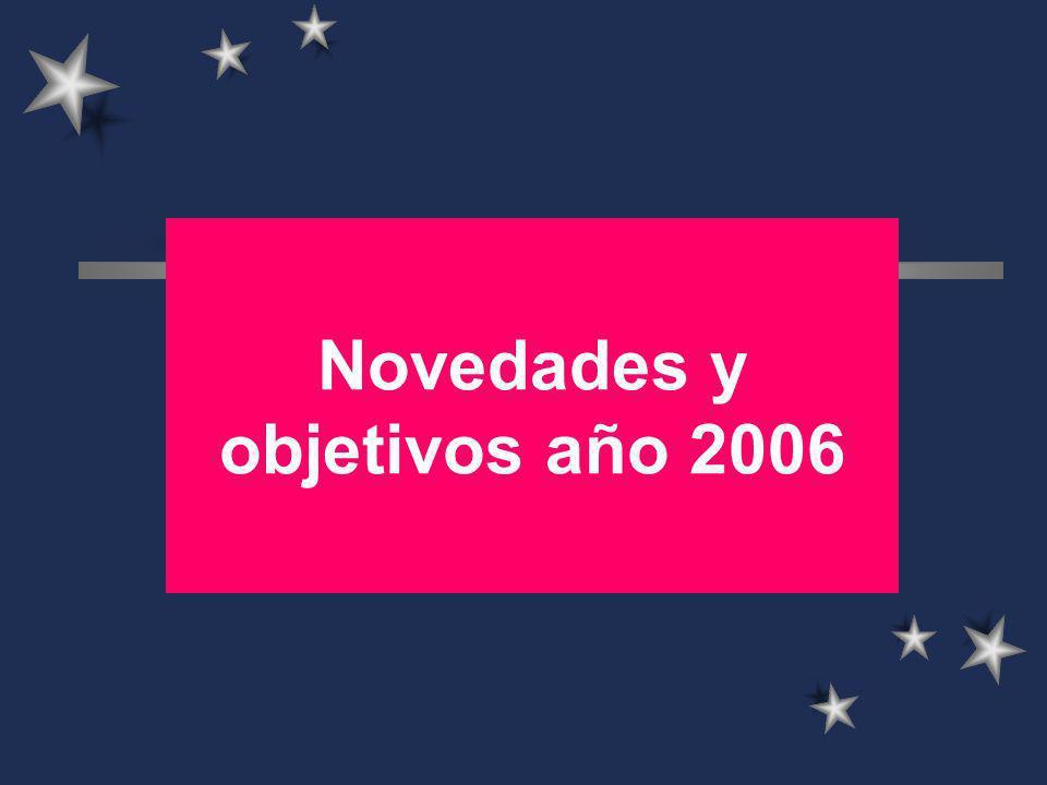 Novedades y objetivos año 2006
