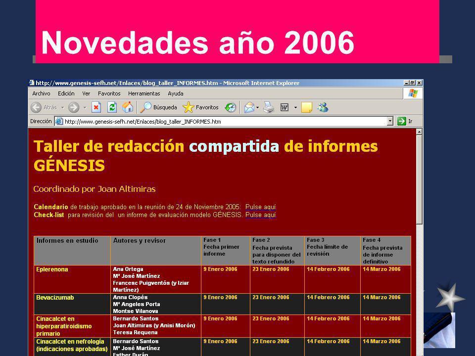 Novedades año 2006