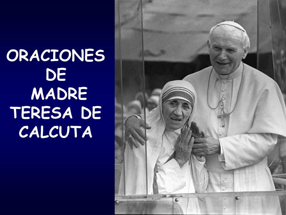 ORACIONES DE MADRE TERESA DE CALCUTA