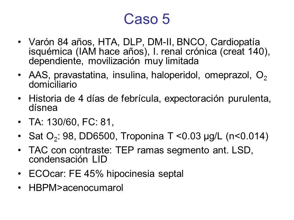 Pregunta caso 5 ¿Cuanto tiempo anticoagularías a este paciente.
