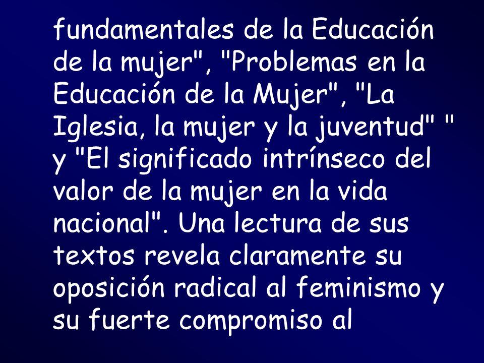 fundamentales de la Educación de la mujer