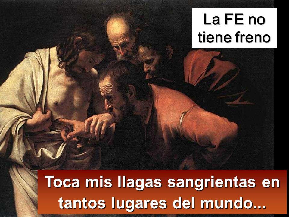 A los ocho días, estaban otra vez dentro los discípulos y Tomás con ellos.