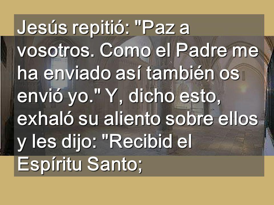 Jesús le dijo: ¿Porque me has visto has creído? Dichosos los que crean sin haber visto.