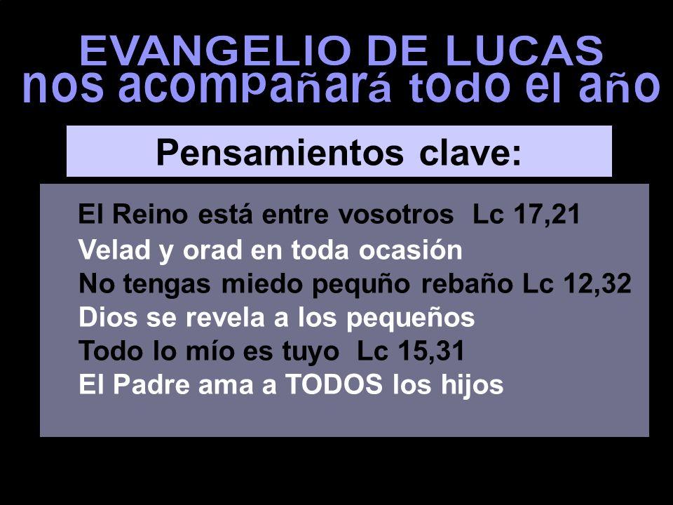 EL REINO ESTÁ ENTRE VOSOTROS HIJO, TODO LO MÍO ES TUYO evangelio de Lucas EL REINO ESTÁ ENTRE VOSOTROS Ciclo C Música: Cantata 36 de Adviento (J.S. Ba