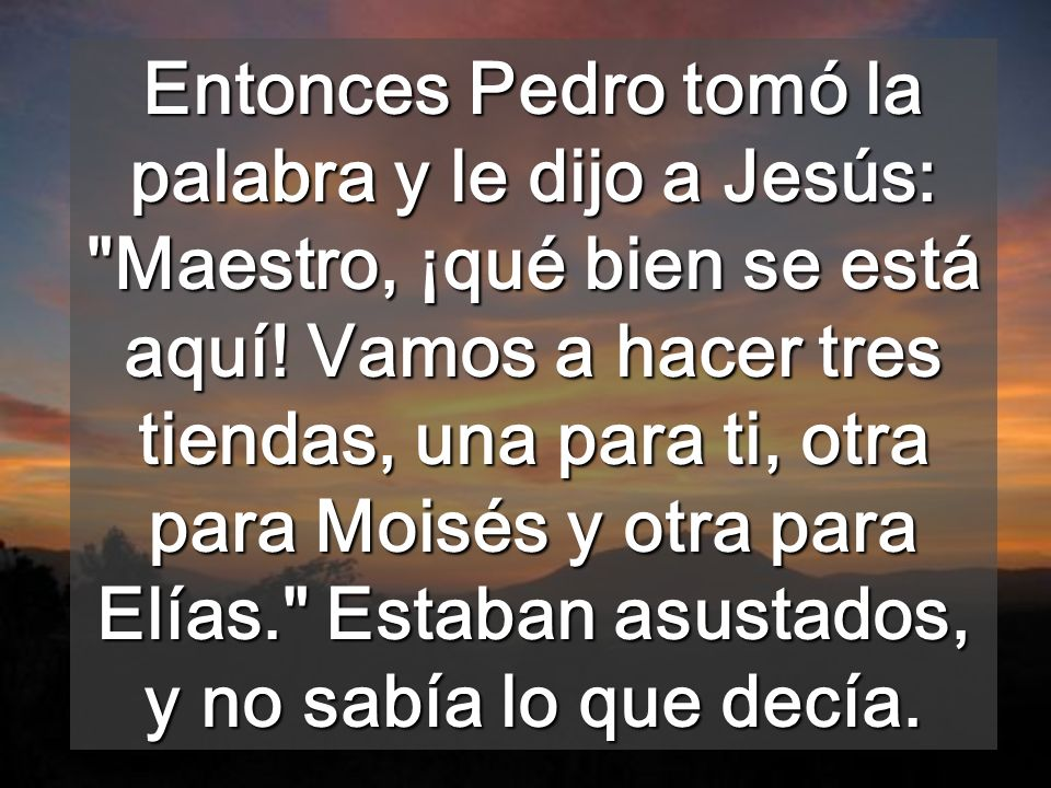 En Ti hay la plenitud de la LEY de Moisés, y del profetismo de Elias Llevamos la Ley escrita en el corazón