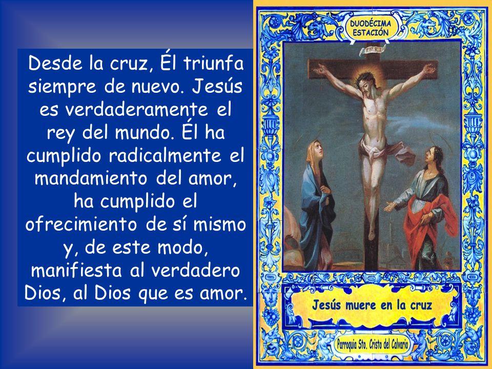 MEDITACIÓN La cruz de Jesús es un acontecimiento cósmico. El mundo se oscurece cuando el Hijo de Dios padece la muerte. La tierra tiembla. Y junto a l