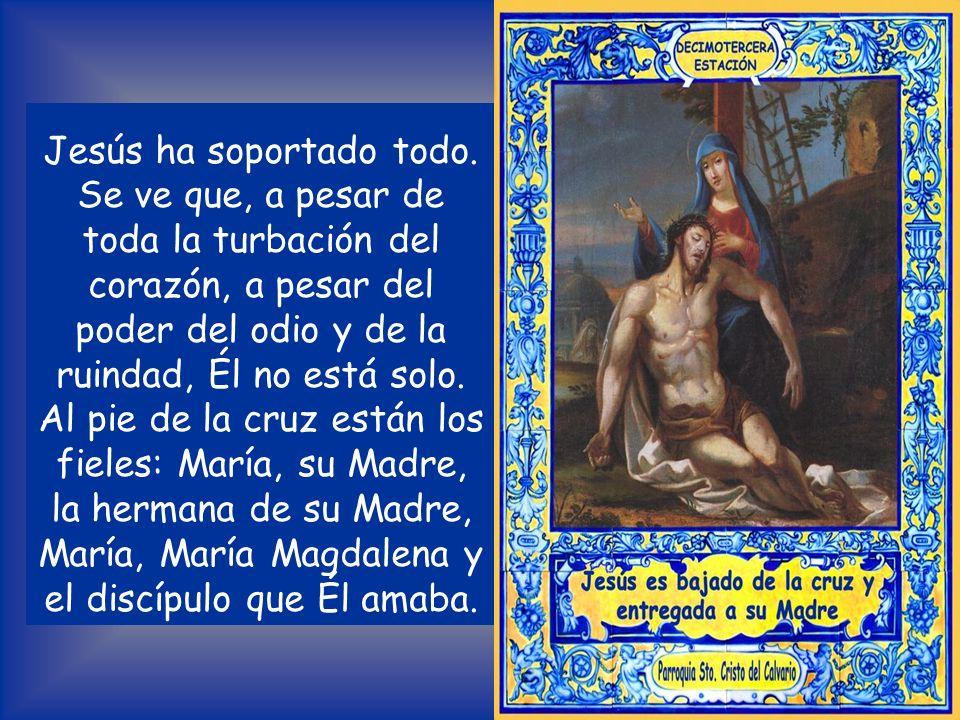 Lectura del Evangelio según San Mateo 27, 54-55 El centurión y sus hombres, que custodiaban a Jesús, al ver el terremoto y lo que pasaba dijeron aterr