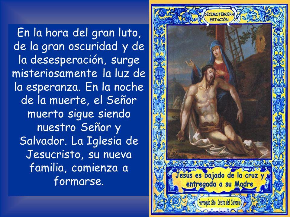 Llega también un hombre rico, José de Arimatea: el rico logra pasar por el ojo de la aguja, porque Dios le da la gracia. El sepulcro en el jardín mani
