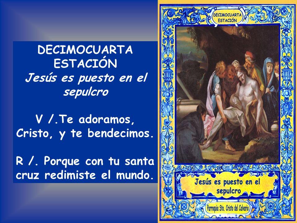 Todos: PADRE NUESTRO De Cristo el cadáver yerto tiene en sus brazos María: ¿y tú con tu mala vida sigues dándole tormento? Por vuestra Pasión sagrada