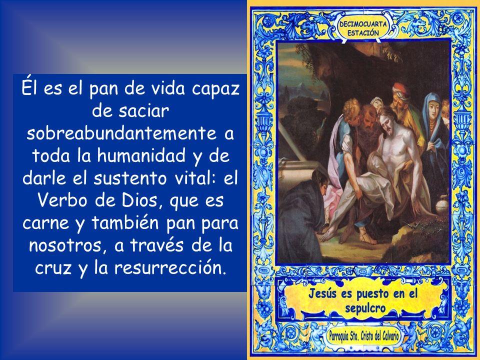 « Si el grano de trigo no cae en tierra y muere, queda infecundo; pero si muere, dará mucho fruto» (Jn 12, 24). Jesús es el grano de trigo que muere.