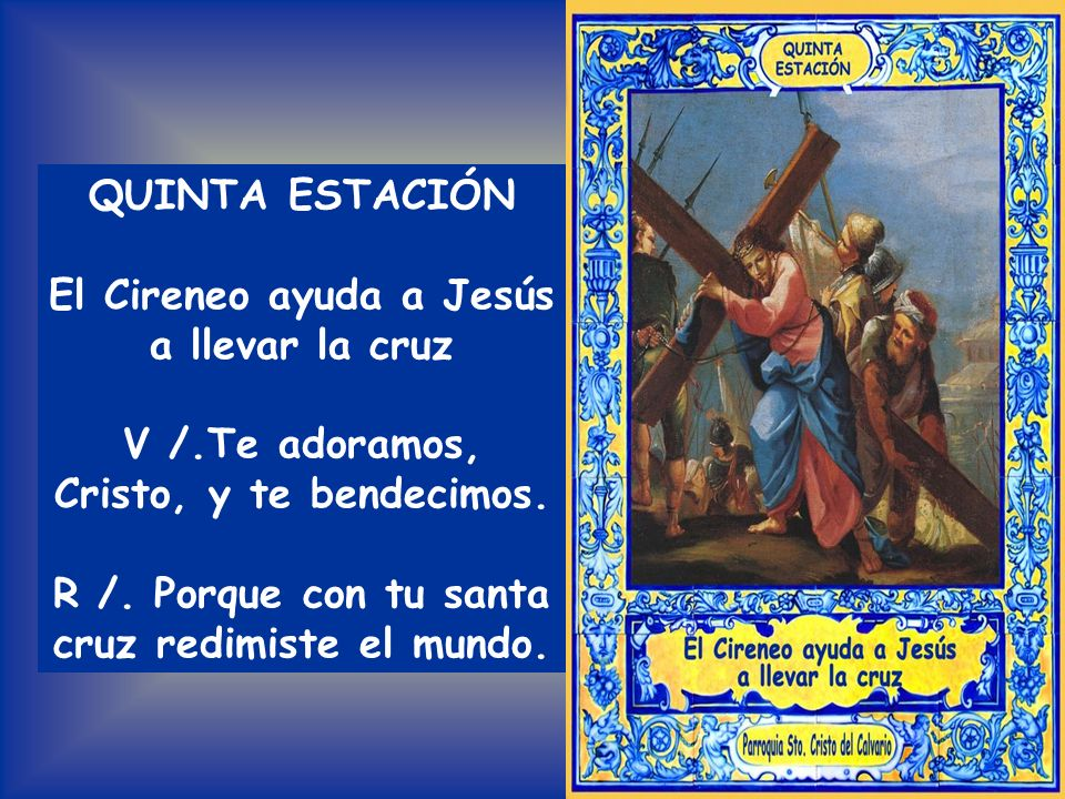 Todos: PADRE NUESTRO Considera cuál sería en tan recíproco amor la pena del Salvador y el martirio de María Por vuestra Pasión sagrada adorable Redent