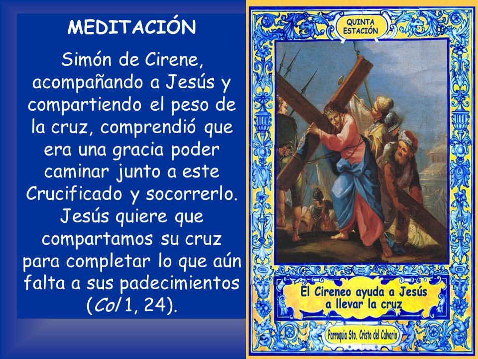 Lectura Evangelio según San Mateo 27, 32; 16, 24 Al salir, encontraron a un hombre de Cirene, llamado Simón, y lo forzaron a que llevara la cruz. Jesú