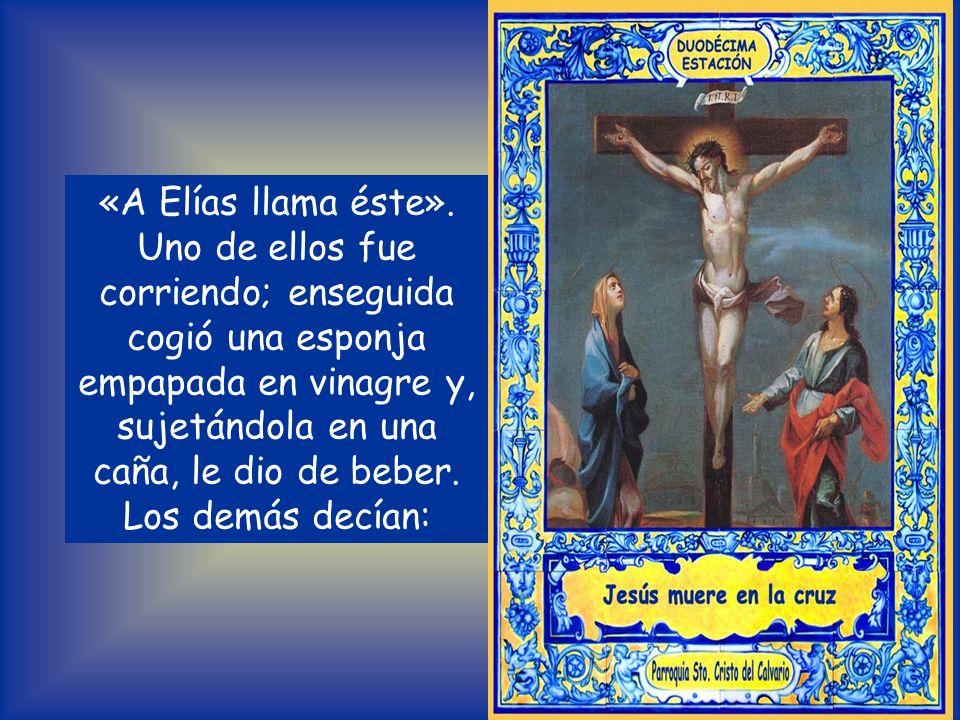 Del Evangelio según San Mateo 27, 45-50. 54 Desde el mediodía hasta la media tarde vinieron tinieblas sobre toda aquella región. A media tarde Jesús g