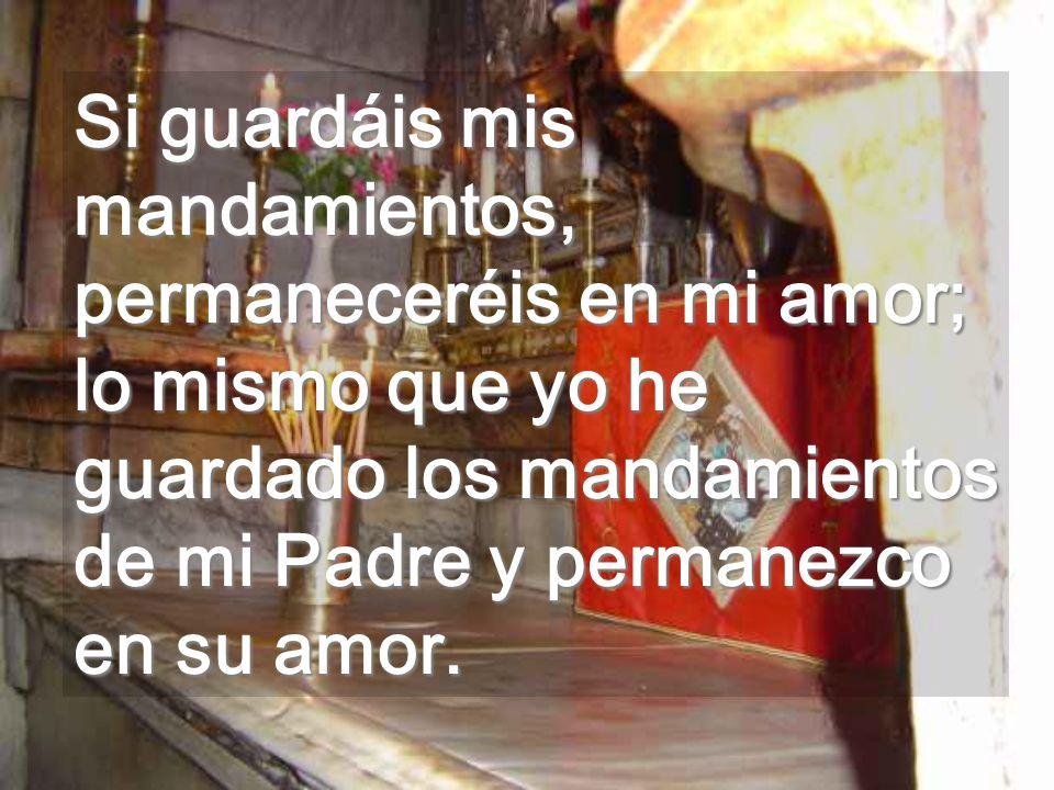 Permaneciendo en el Amor no moriréis nunca Amar es tener seres amados para siempre Cima del Calvario. Por entre los cristales verdes de los dos lados