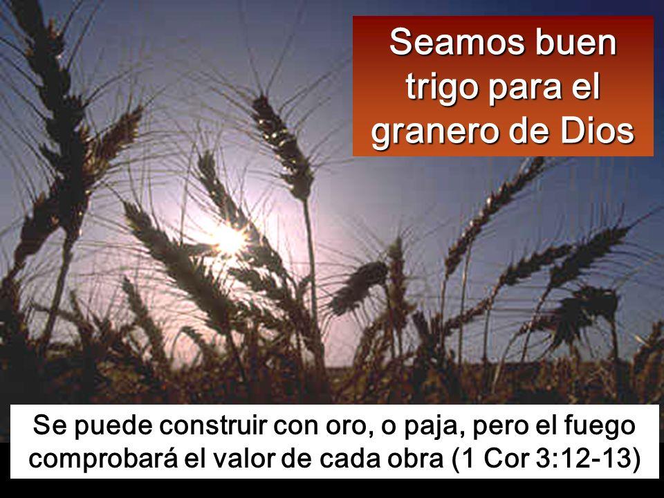 Él tiene el bieldo en la mano: aventará su parva, reunirá su trigo en el granero y quemará la paja en una hoguera que no se apaga.