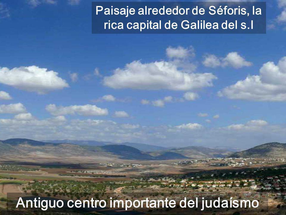 Antiguo centro importante del judaísmo Paisaje alrededor de Séforis, la rica capital de Galilea del s.I
