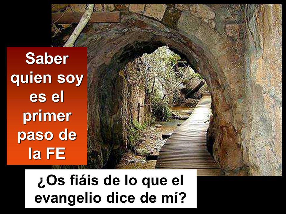 Saber quien soy es el primer paso de la FE ¿Os fiáis de lo que el evangelio dice de mí?