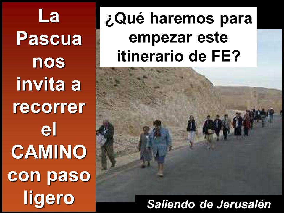 Lc 24,13-35 Dos discípulos de Jesús iban andando aquel mismo día, el primero de la semana, a una aldea llamada Emaús, distante unas dos leguas de Jeru