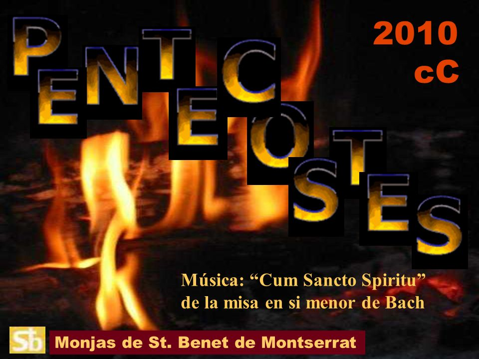 Monjas de St. Benet de Montserrat Música: Cum Sancto Spiritu de la misa en si menor de Bach 2010 cC