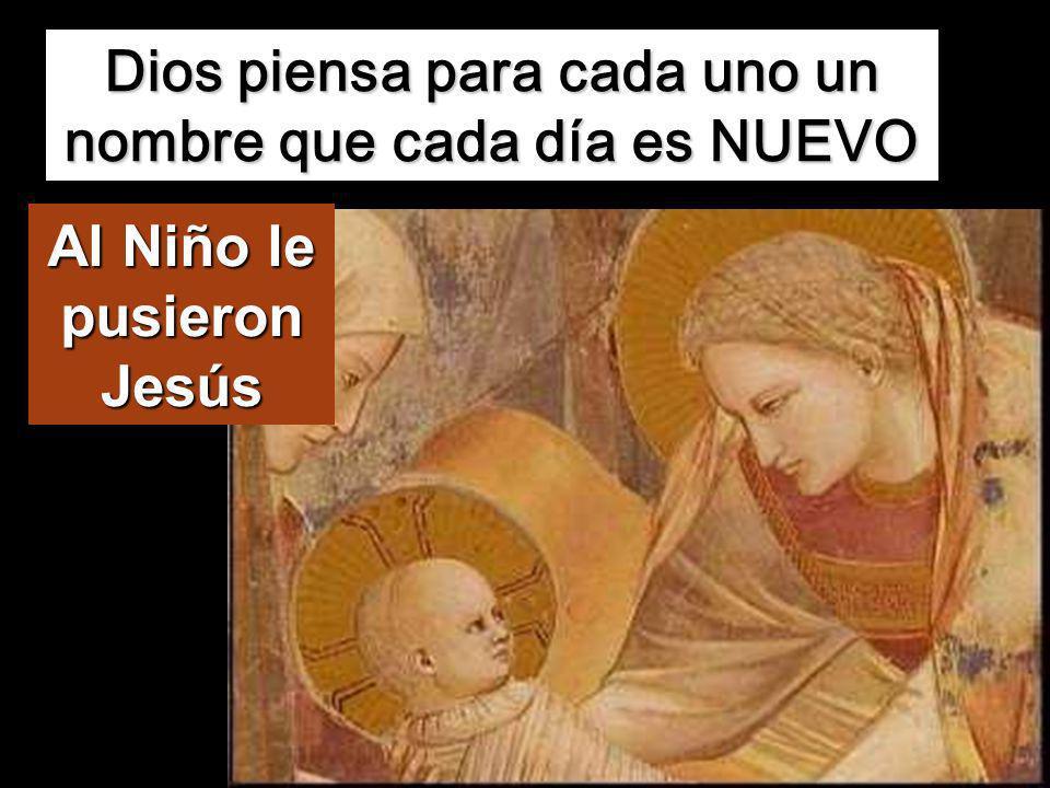 Cuando se cumplieron los ocho días para circuncidarle, le pusieron por nombre Jesús, el nombre dado por el ángel antes de que Él fuera concebido en el