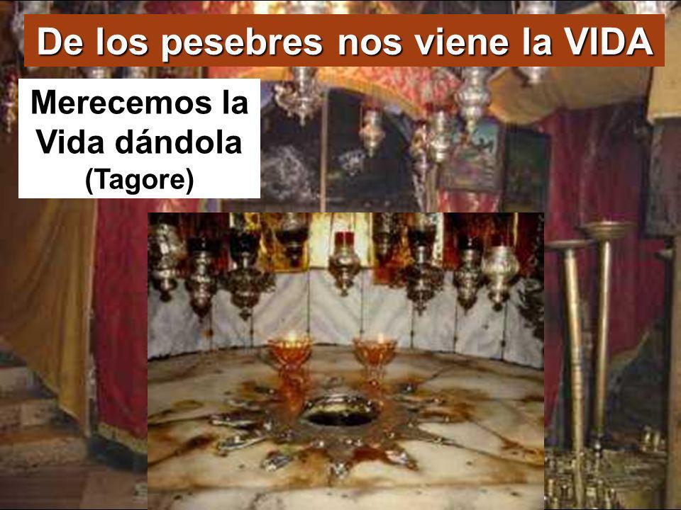 De los pesebres nos viene la VIDA Merecemos la Vida dándola (Tagore)
