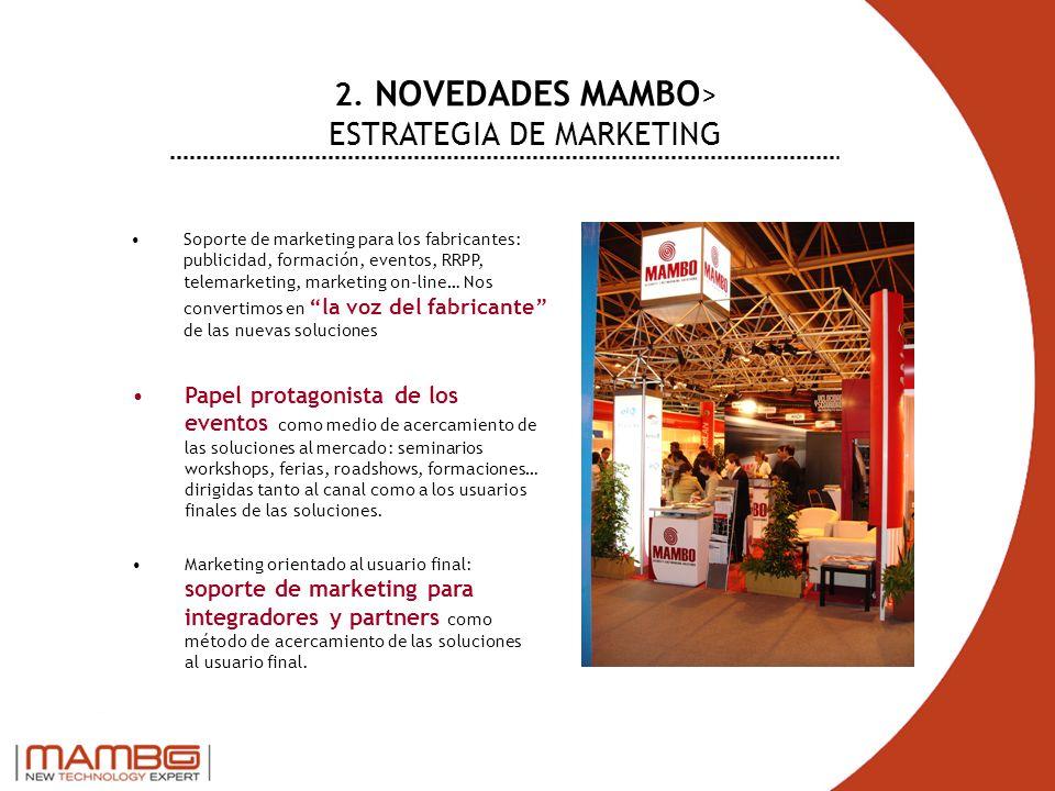 Soporte de marketing para los fabricantes: publicidad, formación, eventos, RRPP, telemarketing, marketing on-line… Nos convertimos en la voz del fabri