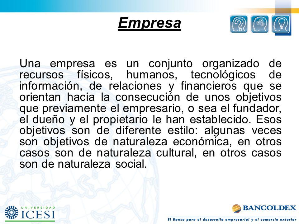 HACIA UN CONCEPTO DE EMPRESA Que imagen puede representar a su empresa (reuniendo los elementos anteriores).